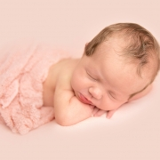 light pink baby newborn ipswich photographer